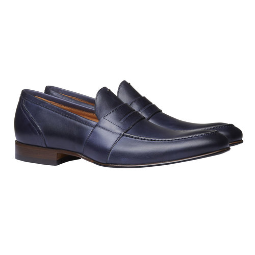 Penny Loafer di pelle bata-the-shoemaker, viola, 814-9146 - 26