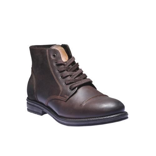 Scarpe in pelle informali bata, marrone, 894-4555 - 13