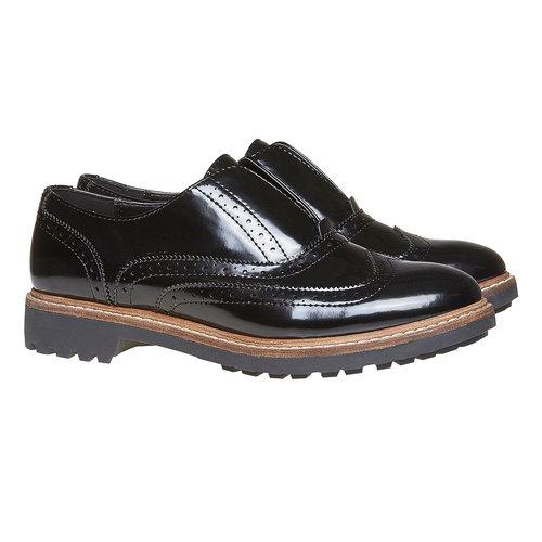 Scarpe basse da donna verniciate bata, nero, 511-6194 - 26