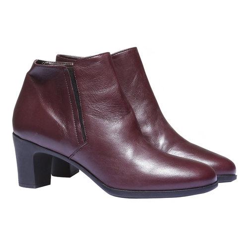 Scarpe di pelle alla caviglia flexible, rosso, 694-5173 - 26