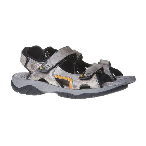 Sandali da uomo in pelle weinbrenner, grigio, 864-2218 - 26