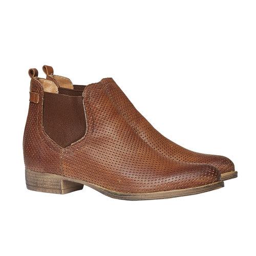 Stivaletti di pelle alla caviglia in stile Chelsea bata, marrone, 594-3546 - 26