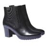 Scarpe di pelle alla caviglia bata, nero, 794-6564 - 26
