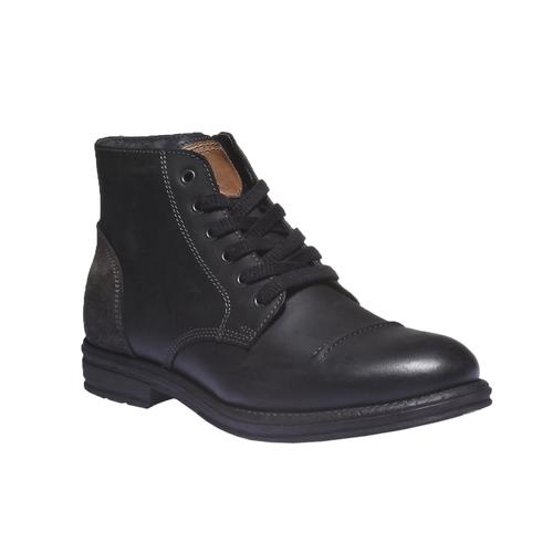 Scarpe in pelle informali bata, nero, 894-6555 - 13