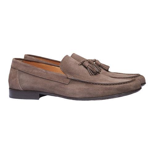 Mocassini da uomo in pelle shoemaker, marrone, 813-4149 - 26