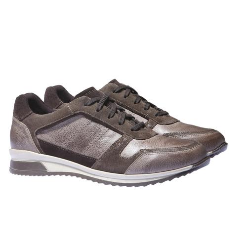 Sneakers di pelle bata, marrone, 844-4434 - 26