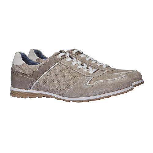 Sneakers informali di pelle bata, giallo, 843-8637 - 26