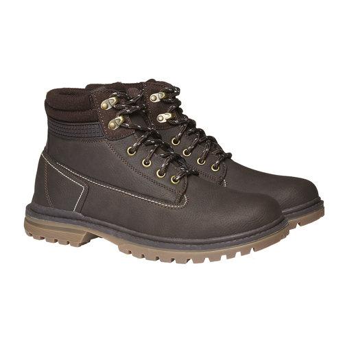 Scarpe alla caviglia con suola appariscente bata, marrone, 891-4438 - 26