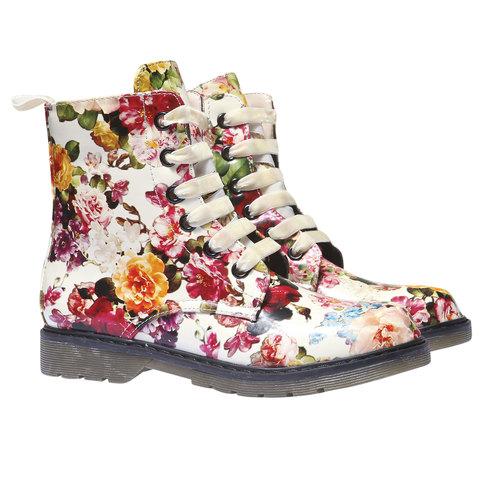 Scarpe da bambino alla caviglia con fiorellini mini-b, 391-0139 - 26