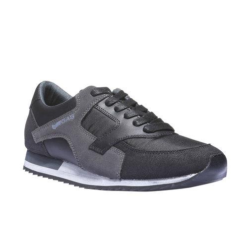 Sneakers di pelle da uomo gas, nero, 843-6507 - 13