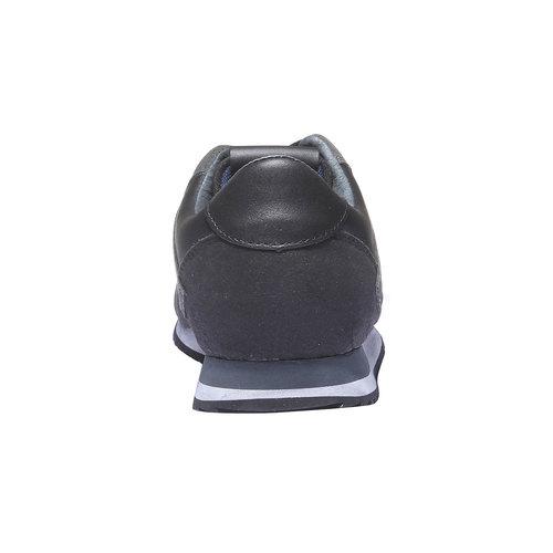 Sneakers di pelle da uomo gas, nero, 843-6507 - 17