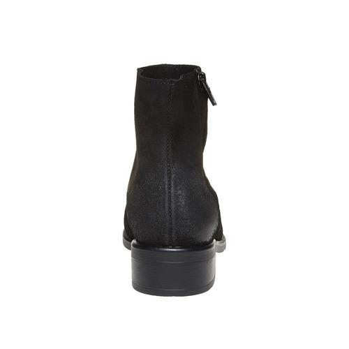 Scarpe di pelle alla caviglia bata, nero, 593-6522 - 17