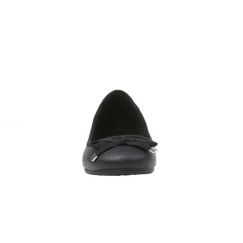 Scarpe basse da donna con tacco basso bata, nero, 521-6325 - 16