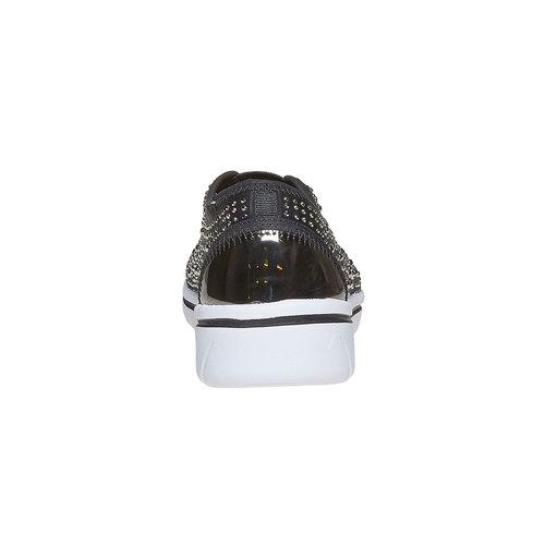 Sneakers slip-on con strass north-star, grigio, 539-2109 - 17