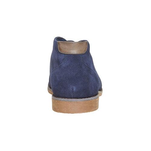 Chukka in pelle da uomo bata, blu, 843-9380 - 17