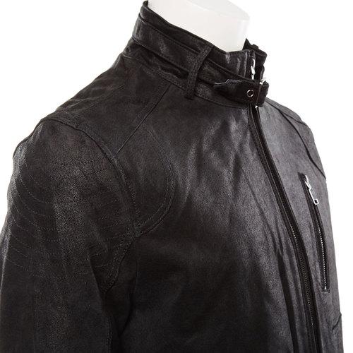 Giacca da uomo in pelle bata, nero, 973-6108 - 16