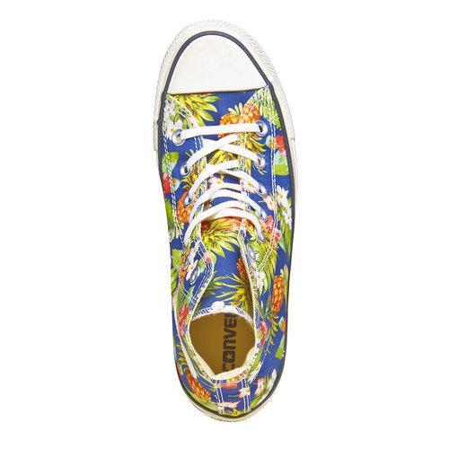 Sneakers alla caviglia con stampa colorata converse, blu, verde, 589-0216 - 19