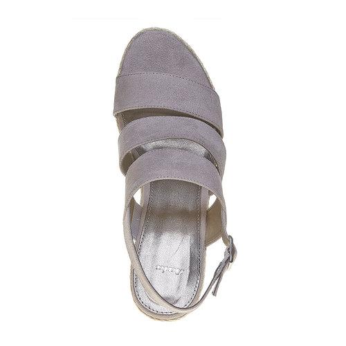 Sandali con plateau appariscente bata, grigio, 769-2552 - 19