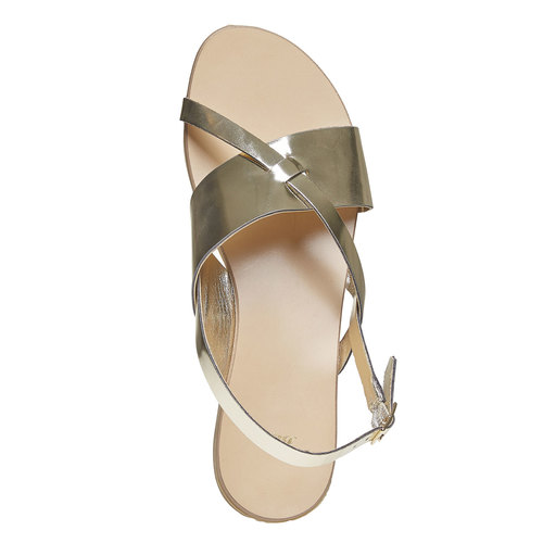 Sandali dorati bata, oro, 561-8131 - 19