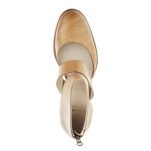 Scarpe di pelle alla caviglia bata, marrone, 594-3259 - 19