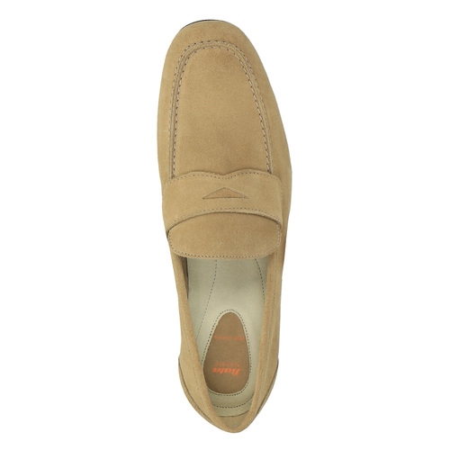 Mocassini da uomo in pelle flexible, beige, 853-8186 - 19