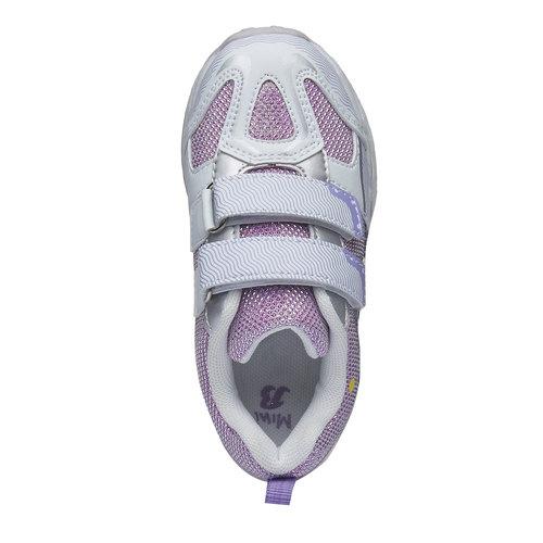 Sneakers da ragazza con chiusure a velcro mini-b, rosso, 229-5159 - 19