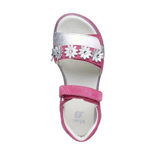 Sandali in pelle con fiori mini-b, rosa, 263-5163 - 19