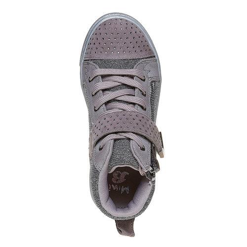 Sneakers da bambina con strass mini-b, grigio, 229-2173 - 19