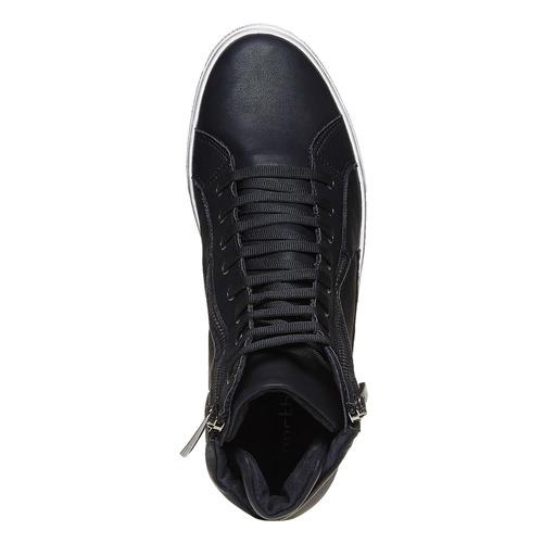 Sneakers da uomo alla caviglia con cerniere north-star, nero, 841-6503 - 19