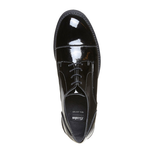Scarpe basse da donna verniciate bata, nero, 521-6317 - 19