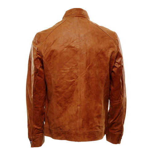 Giacca da uomo in pelle bata, marrone, 973-3108 - 26
