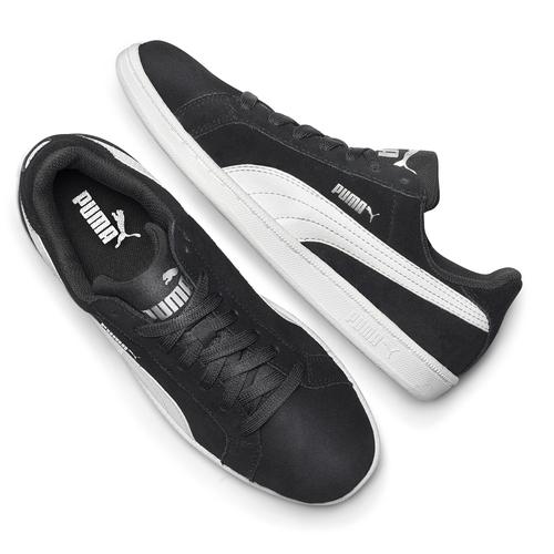 Sneakers da uomo in pelle puma, nero, 803-6312 - 19