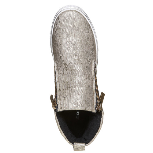 Slip-on alla caviglia con motivo metallizzato north-star, oro, 541-8264 - 19