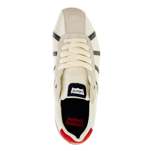Sneakers informali da uomo levis, bianco, 841-1198 - 19