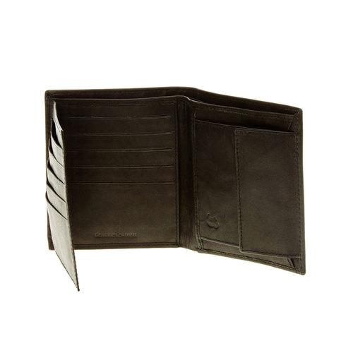 Portafoglio di pelle con cuciture bata, nero, 944-6148 - 16