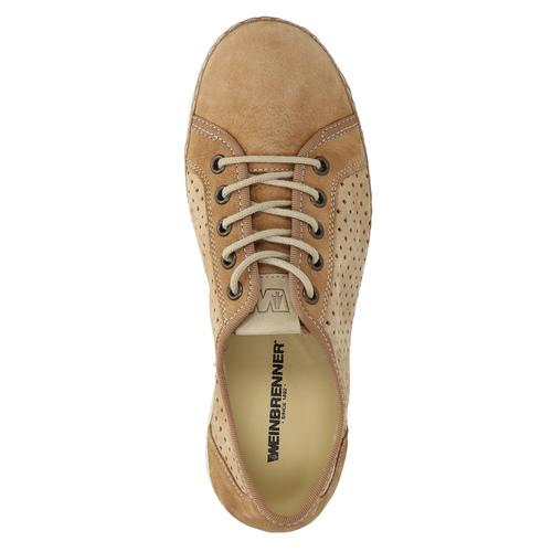 Sneakers di pelle weinbrenner, marrone, 546-4238 - 19