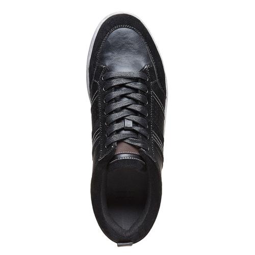 Sneakers nere da uomo bata, nero, 841-6404 - 19