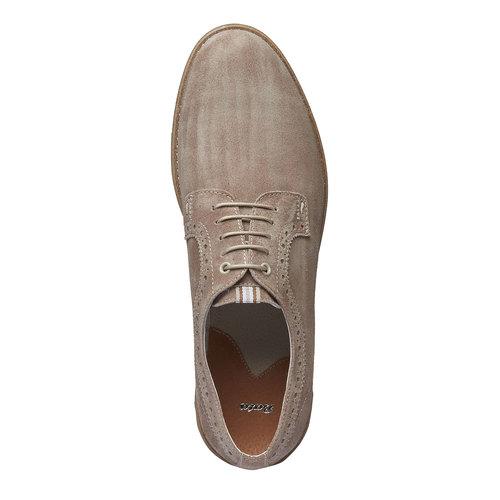 Scarpe basse informali di pelle bata, giallo, 823-8769 - 19