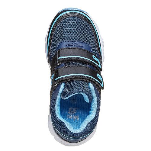 Sneakers da bambino con chiusure a velcro mini-b, blu, 219-9167 - 19