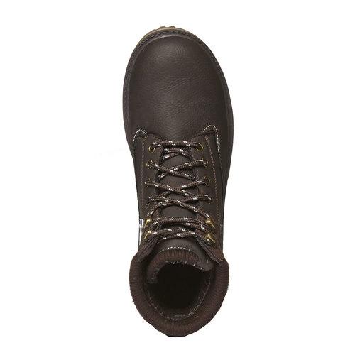 Scarpe alla caviglia con suola appariscente bata, marrone, 891-4438 - 19