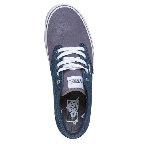Sneakers da bambino di pelle vans, blu, 403-9234 - 19