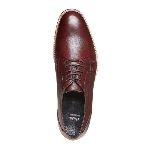 Scarpe basse di pelle in stile Derby bata, rosso, 824-5280 - 19