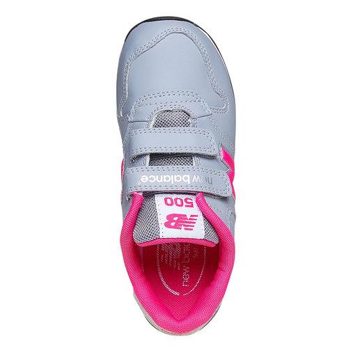 Sneakers da bambina con chiusure a velcro new-balance, grigio, 301-2500 - 19