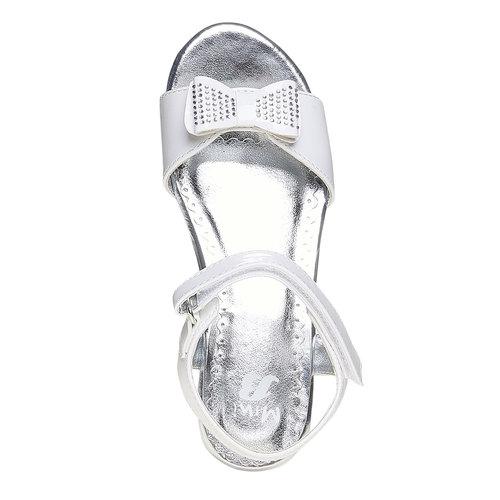 Sandali per bambina con tacco a cono mini-b, bianco, 361-1176 - 19