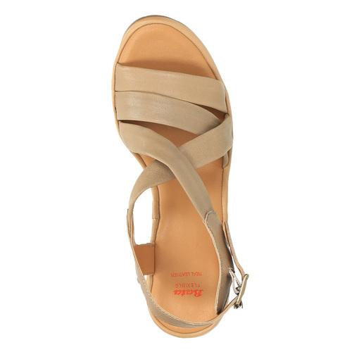 Sandali da donna in pelle flexible, marrone, 764-8538 - 19