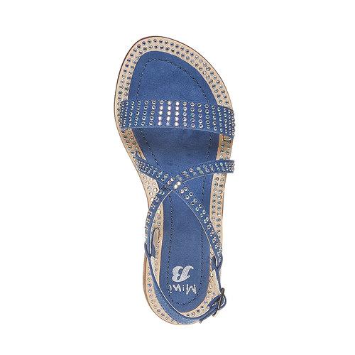 Sandali con strass mini-b, blu, 369-9169 - 19
