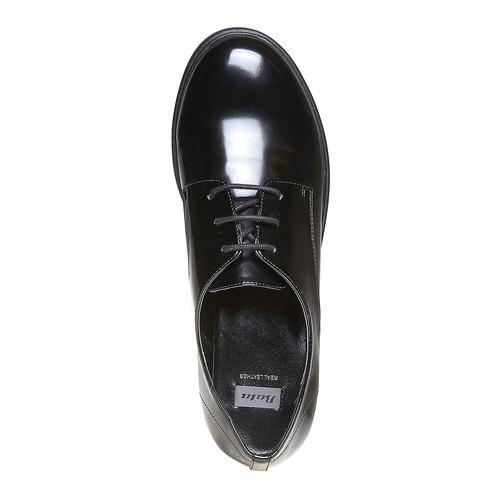 Scarpe basse da donna verniciate bata, nero, 521-6291 - 19