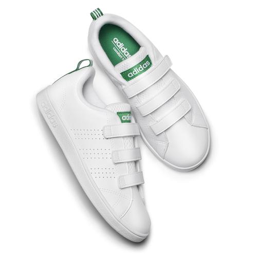 Sneakers bianche da bambino con chiusure a velcro adidas, bianco, 301-1168 - 19