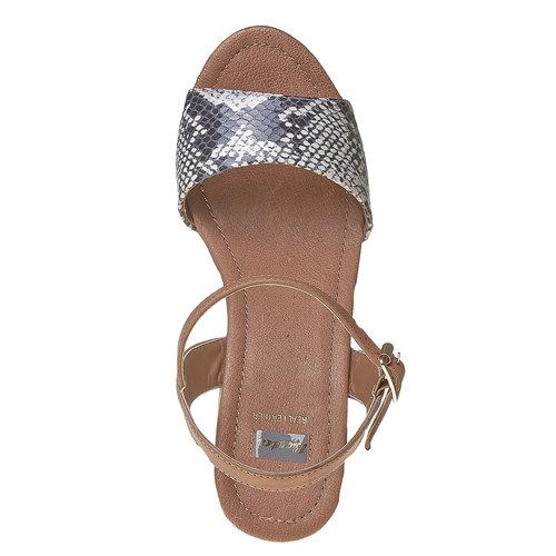 Sandali con tacco massiccio bata, marrone, 761-3485 - 19