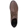 Scarpe in pelle da donna con lacci bata, grigio, 693-2381 - 19